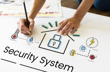 Security system concept on a paper work